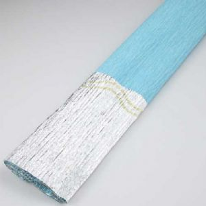 Thick Crepe paper, blue, Silver colour, 40cm x 50cm, 1 sheet, [CR293]